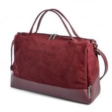 Женская сумка Камелия М113-38/замш бордовая
