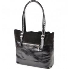 Женская сумка Камелия М167-27/замш черная