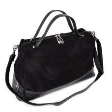 Женская замшевая сумка Камелия М113-47/замш черная