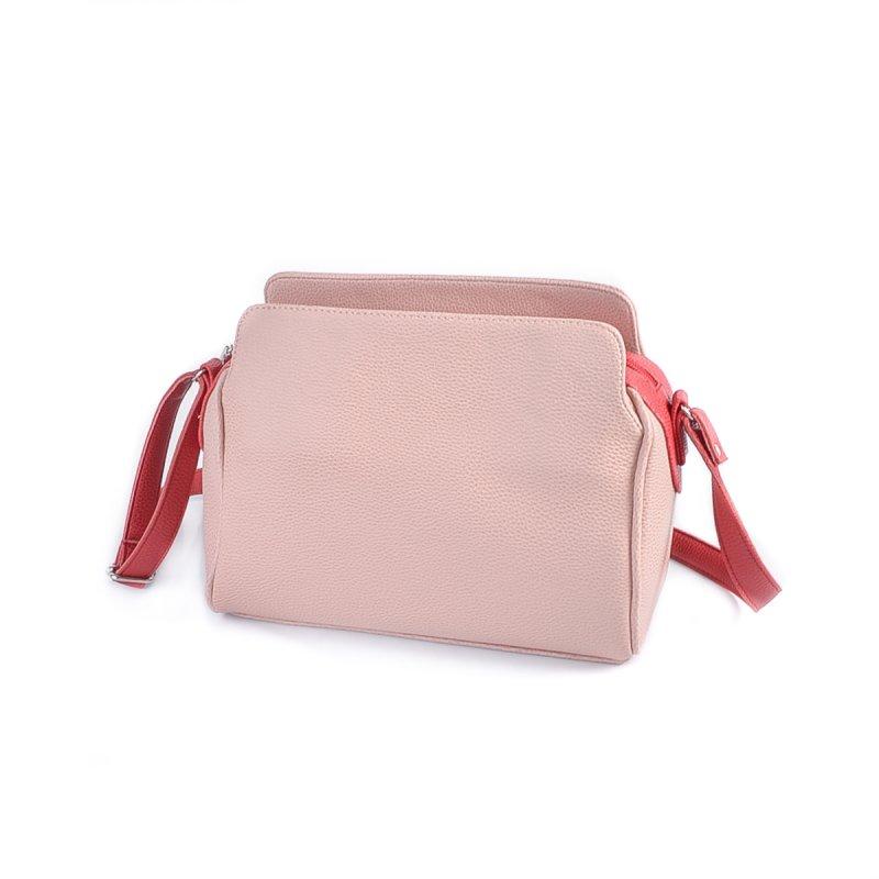 532216ce65bb Женская сумка с длинным ремешком Камелия М128-65/68 розовая с красным