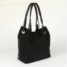 Женская замшевая сумка Камелия М54-47/замш черная