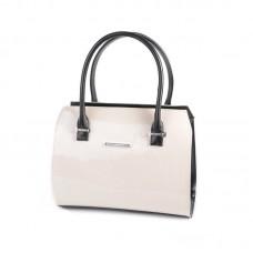Женская лакированная сумка Камелия М50-81/33 молочная