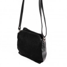 Женская замшевая сумочка Камелия М121-47/замш черная
