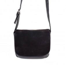 Замшевая сумка кросс-боди Камелия М52-47/замш черная