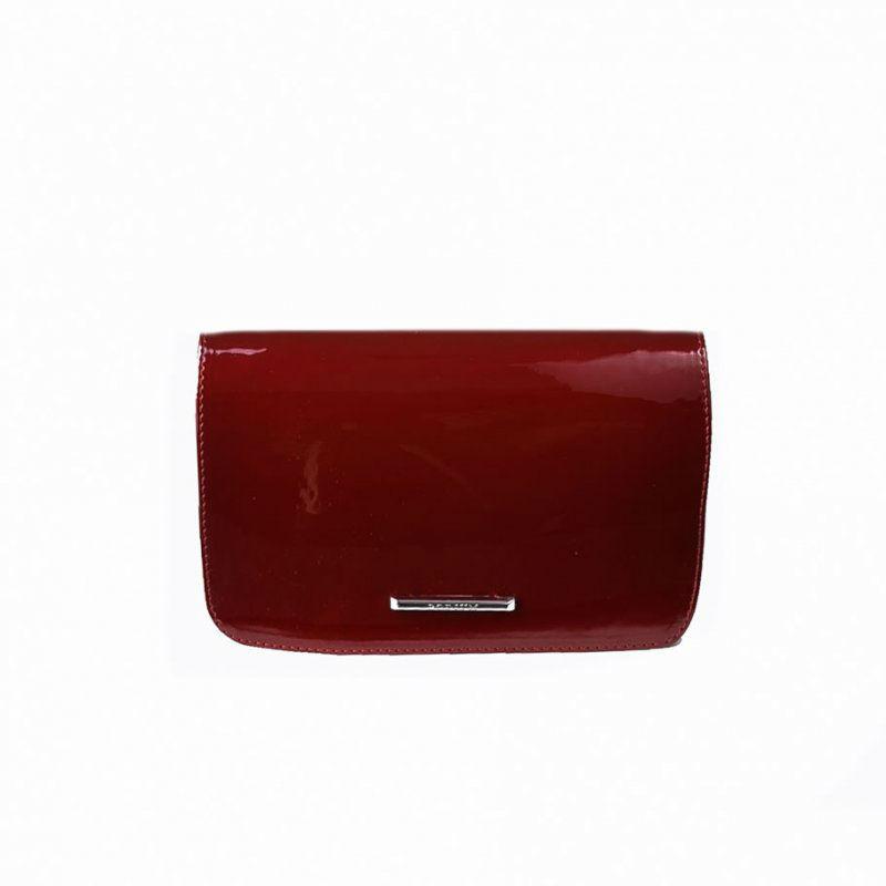 f2d40a5d02b8 Женский лаковый клатч М63-58/27 красный — заказывайте недорого