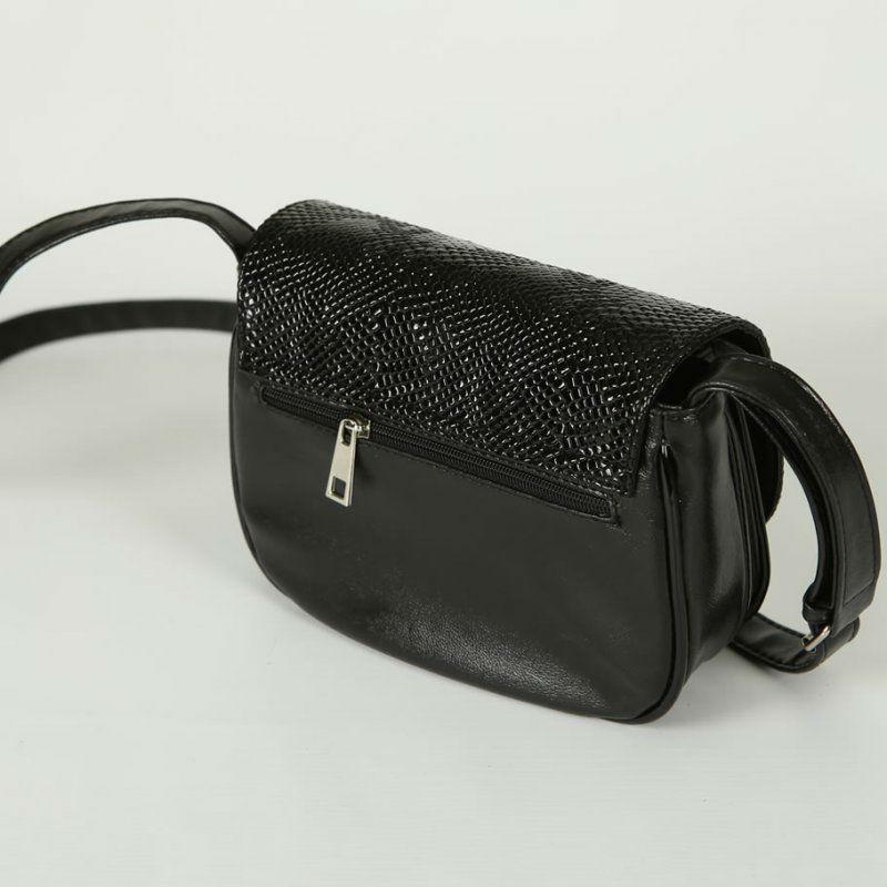 ... Жіноча маленька сумочка під шкіру пітона М55-63 14 чорна ... 85784fa4eedfd