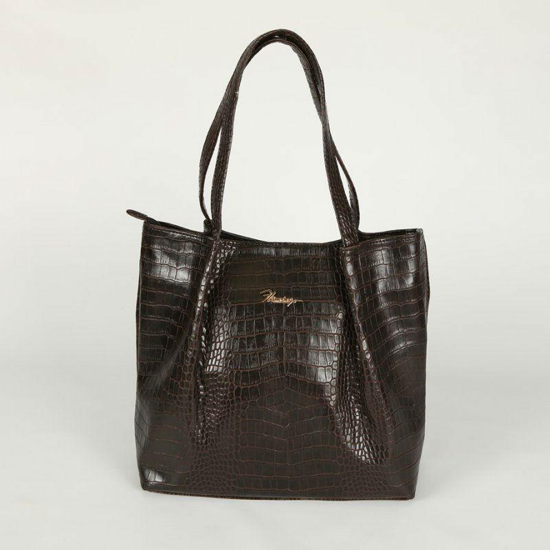 Жіноча сумка під крокодилячу шкіру М81-13 коричнева — замовляйте ... 8b00212451454