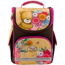 Рюкзак шкільний каркасний Kite Popcorn the Bear PO18-501S-2 коричневий