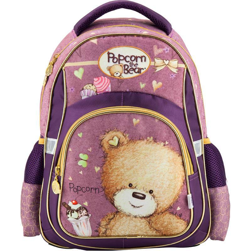 91d825595a59 Рюкзак школьный Kite Popcorn the Bear PO18-518S фиолетовый купить в ...