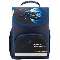 Рюкзак шкільний каркасний Kite Space trip K18-701M-1 темно-синій