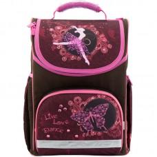 Рюкзак шкільний каркасний Kite Love to dance K18-701M-2 бордовий