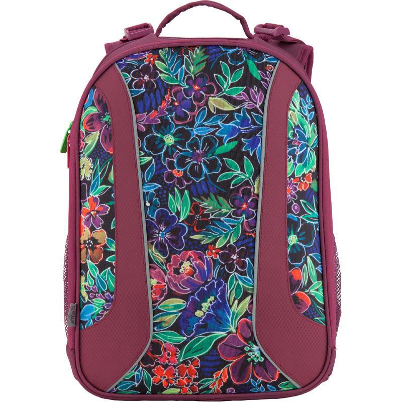 09d53edde2f0 Рюкзак школьный каркасный 703 Flowery K18-703M-2 бордовый купить в ...