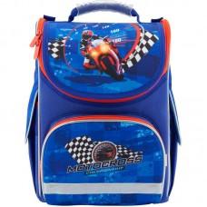 Рюкзак шкільний каркасний Kite Motocross K18-501S-4 темно-синій
