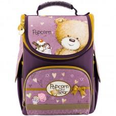 Рюкзак шкільний каркасний Kite Popcorn the Bear PO18-501S-1 фіолетовий