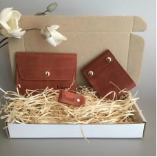 Подарунковий набір Klasni Aconite коричневий К-08-06-06-1