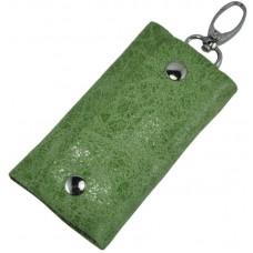 Ключница кожаная 108 зеленая