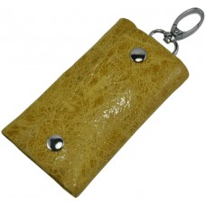 Ключница кожаная 108 желтая