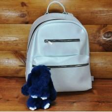 Брелок кролик из меха темно-синий