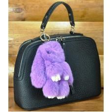 Брелок кролик из меха лиловый