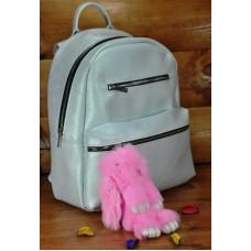 Брелок кролик из меха розовый