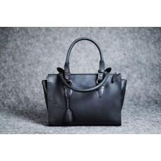 """Женская кожаная сумка """"Трина S"""" черная кайзер"""