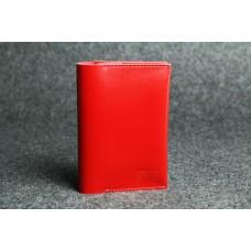 "Кожаная обложка для паспорта ""Паспарту"" красная кайзер"