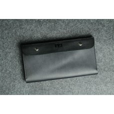 """Шкіряний чоловічий гаманець """"Тревел"""" чорний"""