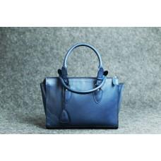 """Женская кожаная сумка """"Трина S"""" синяя кайзер"""