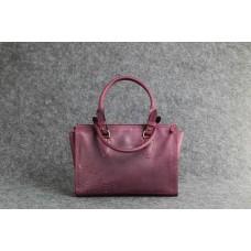 """Женская кожаная сумка """"Трина S"""" бордовая"""