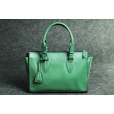 """Женская кожаная сумка """"Трина S"""" зеленая кайзер"""
