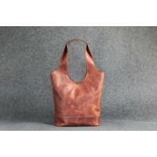 "Кожаная женская сумка ""Пакет S Up"" темно-рыжая"