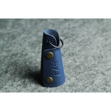 Ключница кожаная синяя кайзер