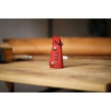 Кожаная ключница красная