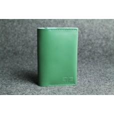 """Кожаная обложка для паспорта """"Паспарту"""" зеленая кайзер"""