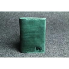 """Кожаная обложка для паспорта """"Паспарту"""" зеленая"""