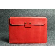 Кожаный чехол для планшета красный