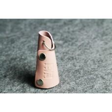 Ключница кожаная розовая кайзер