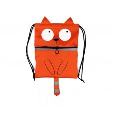 Дитячий рюкзак-мішок Кіт Ейнштейна з нашийником MAD ABPK10K помаранчевий