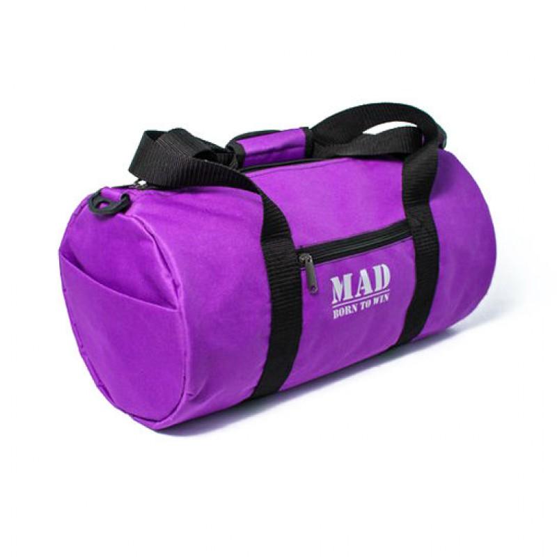 Фиолетовая кожаная сумка с золотистыми вставками Vila