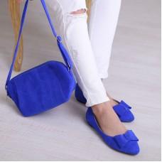 Сумка женская замшевая 91716 синяя