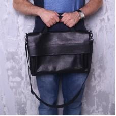 Кожаный портфель 91777 черная