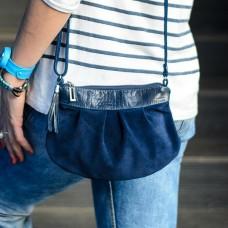 Сумка женская замшевая 91079 синяя