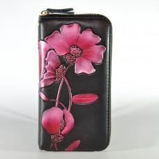 Женский кожаный кошелек с технологией RFid Bauhinia Red черный