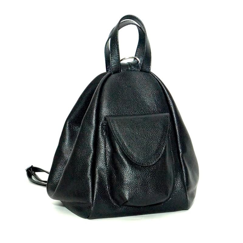 0ec022805e76 Женский кожаный рюкзак-сумка Асти черный купить от производителя в Киеве