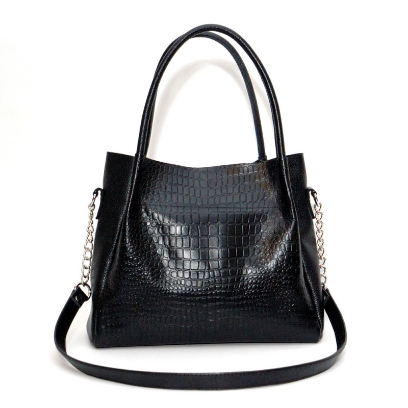 e30dfc420bd4 Кожаная женская сумка Верона черная купить от производителя в Киеве