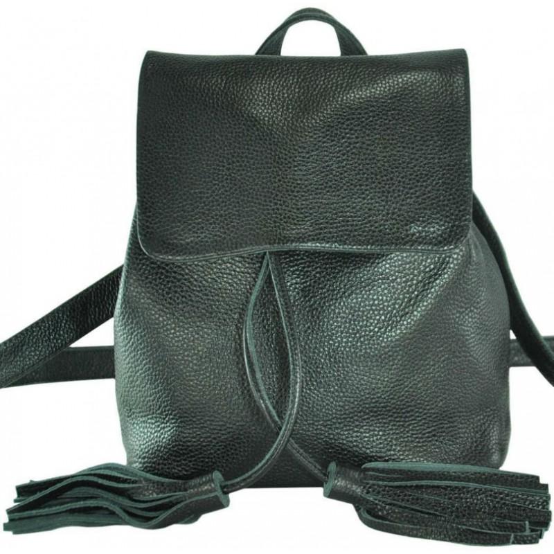 24998984abb2 Кожаный женский рюкзак Лейпциг черный недорого в наличии в Киеве