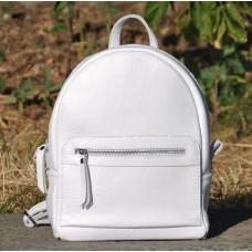 Кожаный рюкзак Meri белый