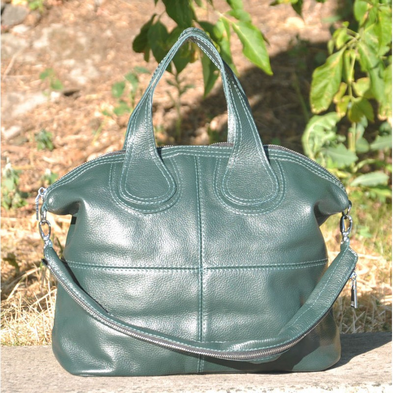 1a8c0c007628 ᐉ Кожаная женская сумка Nightinghale зеленая купить в Киеве и Украине