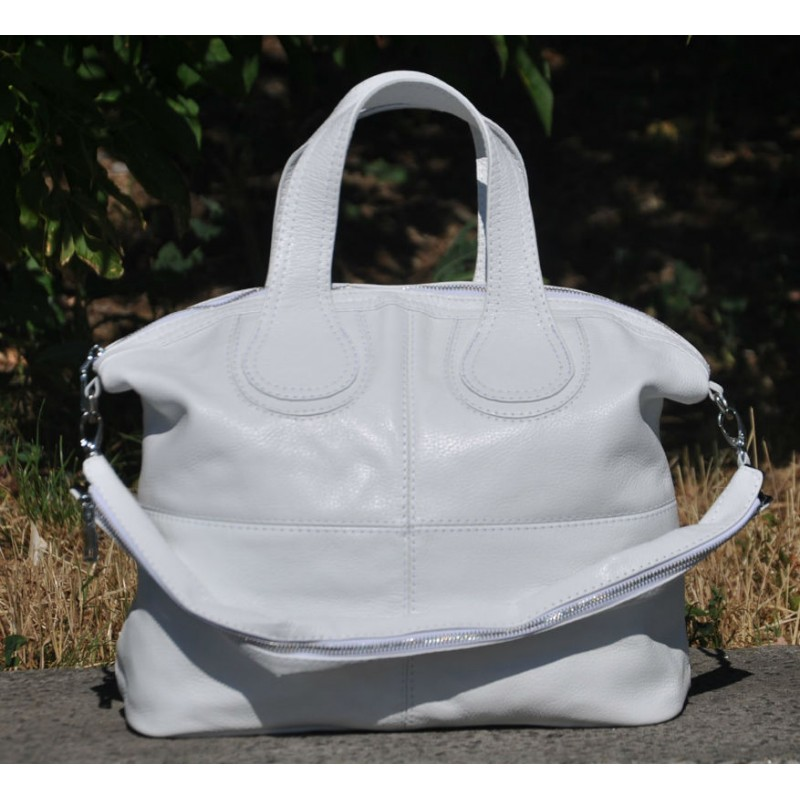 a2fbf505d26c ᐉ Кожаная женская сумка Nightinghale белая купить в Киеве и Украине
