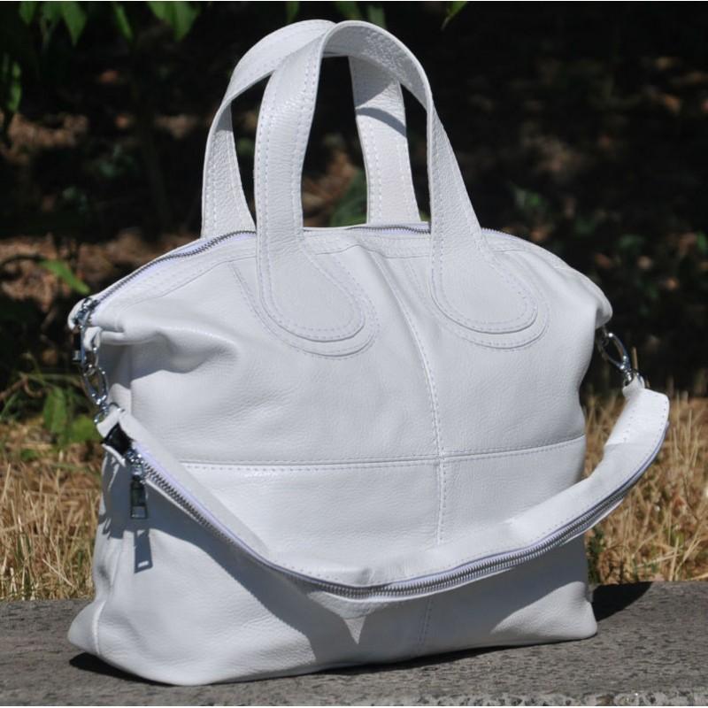 b91a03098a58 Кожаная женская сумка Nightinghale белая Кожаная женская сумка Nightinghale  белая ...